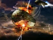 FoT airship struck by lightning