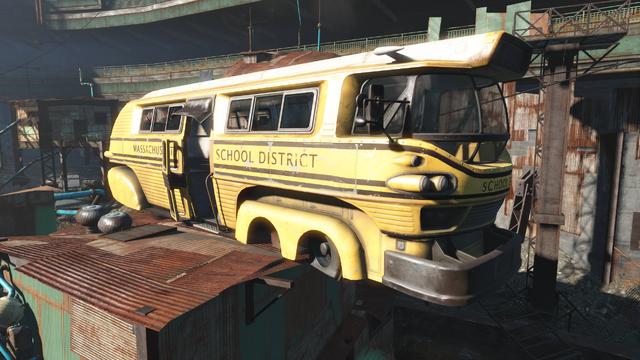 File:Fo4 School Bus Diamond City Schoolhouse.png