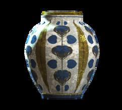 Empty floral barrel vase
