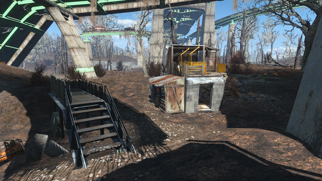 File:FO4 Mass Pike Interchange central elevator post.png