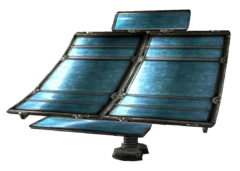Intact solar array part
