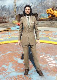 Fo4Clean Tan Suit