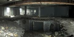 National Guard barracks interior