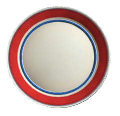 Clean red plate