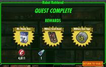 FoS Robot Retrieval rewards