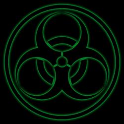 Biohazard Symbol PNG2A- Circle Added