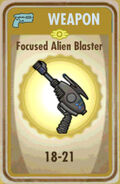 FoS Focused Alien Blaster Card