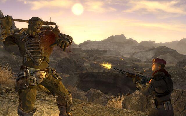File:FNV screenshot NCR vs Mutant.jpg