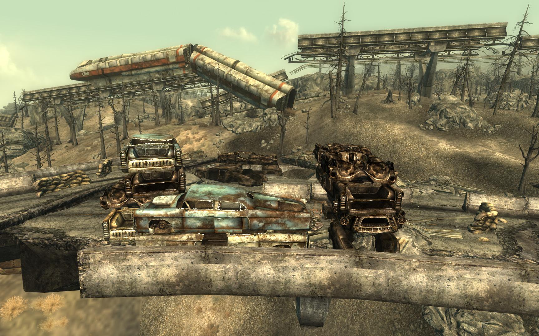 Fallout  Abandoned Car Fort Mod