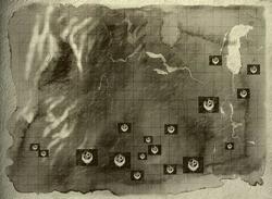 Mapa de los puestos de avanzada y las bases de la Hermandad en todo el Medio Oeste