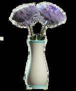 Glass flared teal vase
