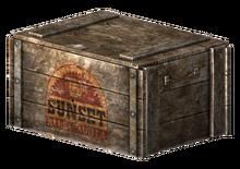 Sunset Sarsaparilla crate