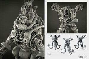 Art of Fo4 robots concept art