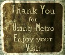 Thank you metro