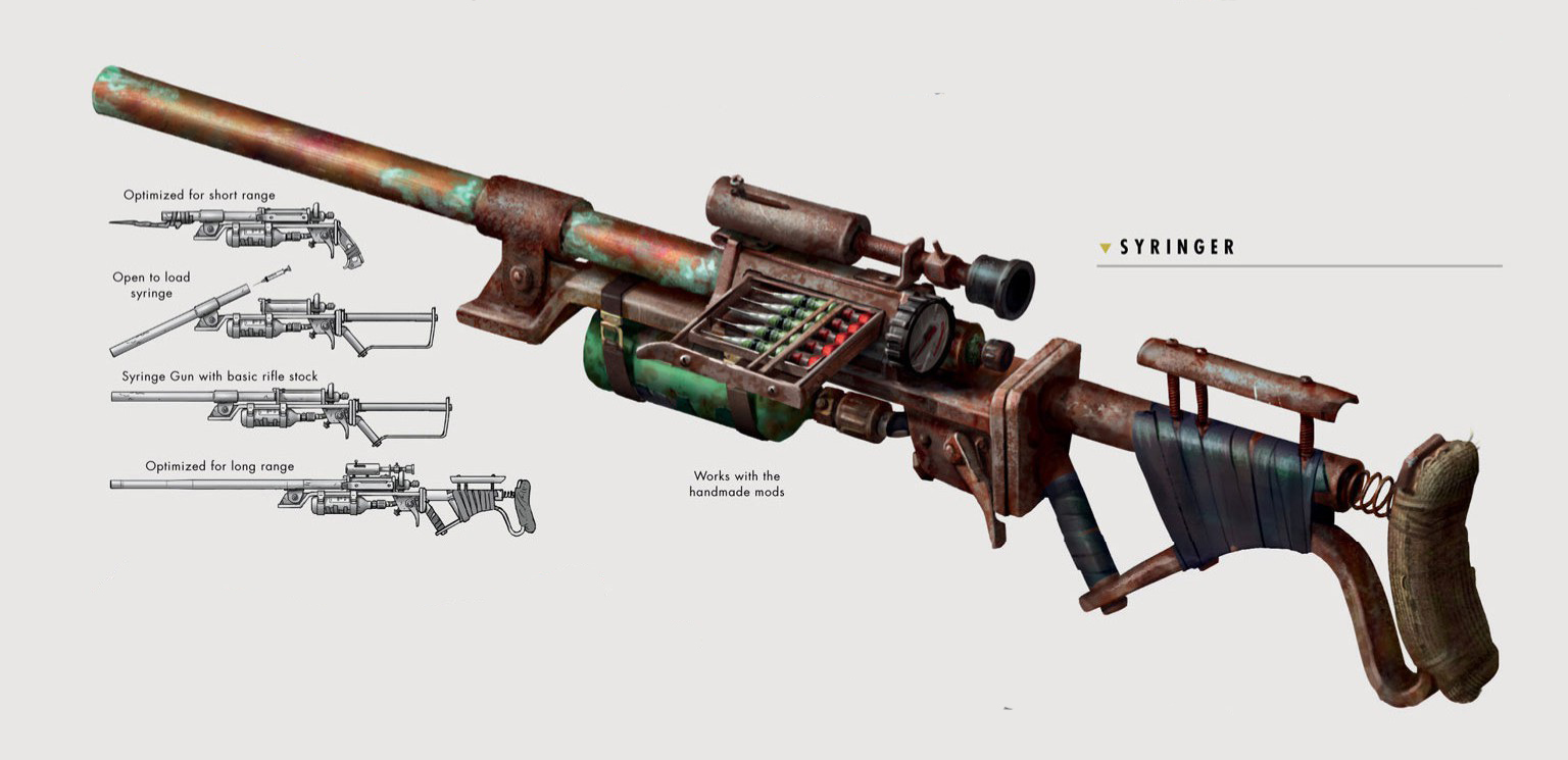 fo4 handmade rifle syringer fallout wiki fandom powered by wikia 5710