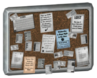 Vault 101 cafeteria bulletin board