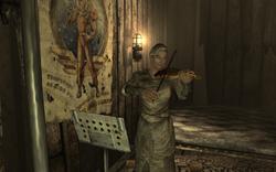 Agatha performing