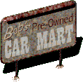 Fo1 Bob's used cars sign