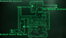 Fo3 National Archives sub-basement map