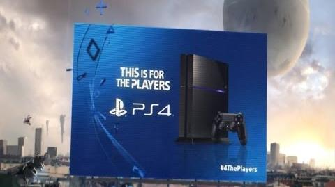 This Is For The Players PS4 Launch advert 4ThePlayers