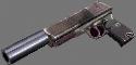 Colt 6504 9mm autoloader silencer hand