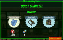 FoS Overwhelming Force rewards