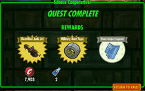 FoS Science Cooperative! rewards B