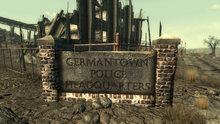 FO3 GermantownPoliceHQSign