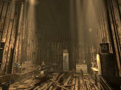 Sniper shack interior