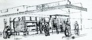 Fallout 1 Concept Art - Poseidon Gas Station