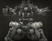 Sentry Bot Inner Detail Render Frontal View