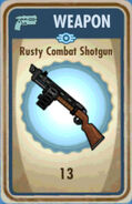 FoS Rusty Combat Shotgun Card