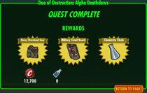 FoS Duo of Destruction Alpha Deathclaws rewards