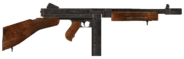 .45 Auto submachine gun with the compensator modification