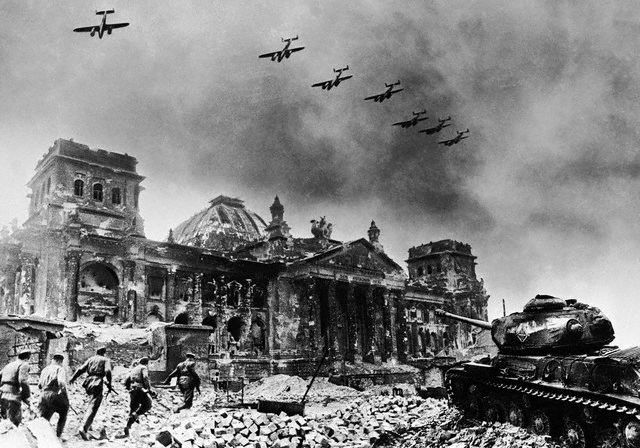 File:Yevgeny Khaldei - Reichstag After Fall of Berlin - 1945.jpg