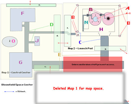 VB DD15 map Bloomfield Space Center flowchart
