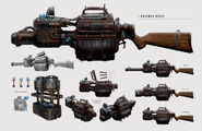 Art of FO4 Railway Rifle