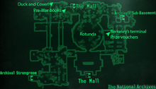 Fo3 National Archives lobby map