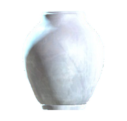 Glass barrel vase