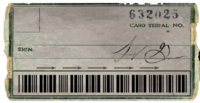 FO General Atomics ID card back
