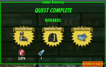 FoS Canine Recovery rewards