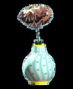 New teal bud vase