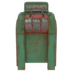 Fo4 green trash can