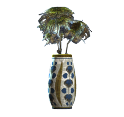 Floral rounded vase