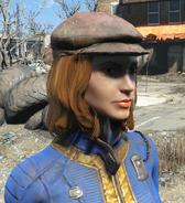 Newsboy cap worn