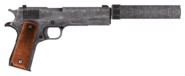 .45 Auto pistol with the silencer modification, including cut content