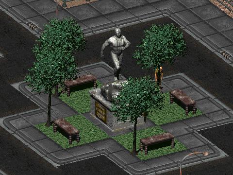 File:FO2 Vault Dweller statue.png