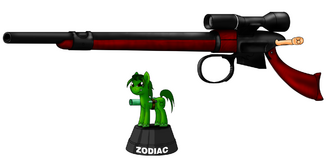 Taurus Rifle and Statuette