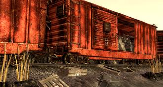 Broken Banks Supply Train wreckage