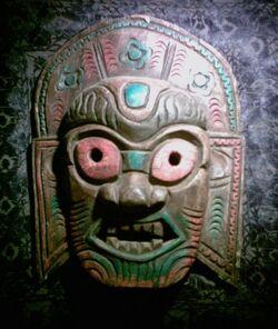 Asiatische Holzmaske